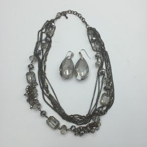 Multi-Stand Statement Necklace & Earrings